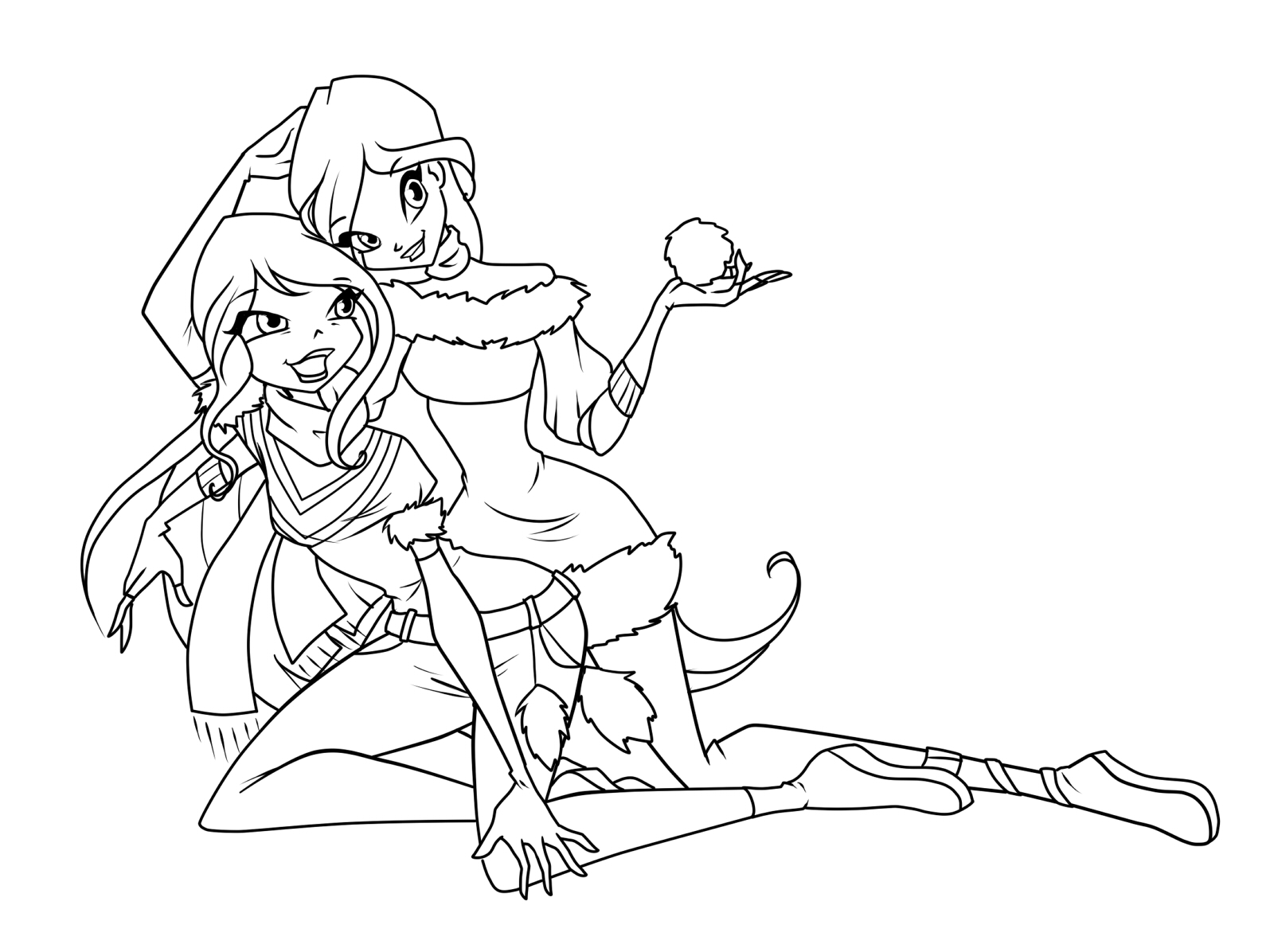 картинки раскраски аниме девушек: