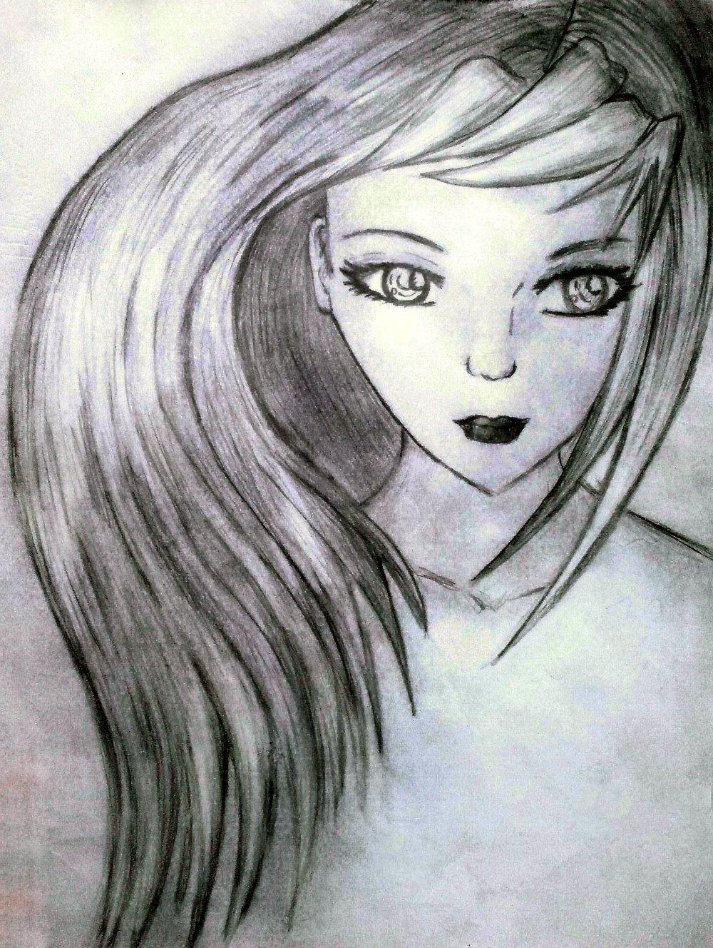 Рисунок карандашом кукол