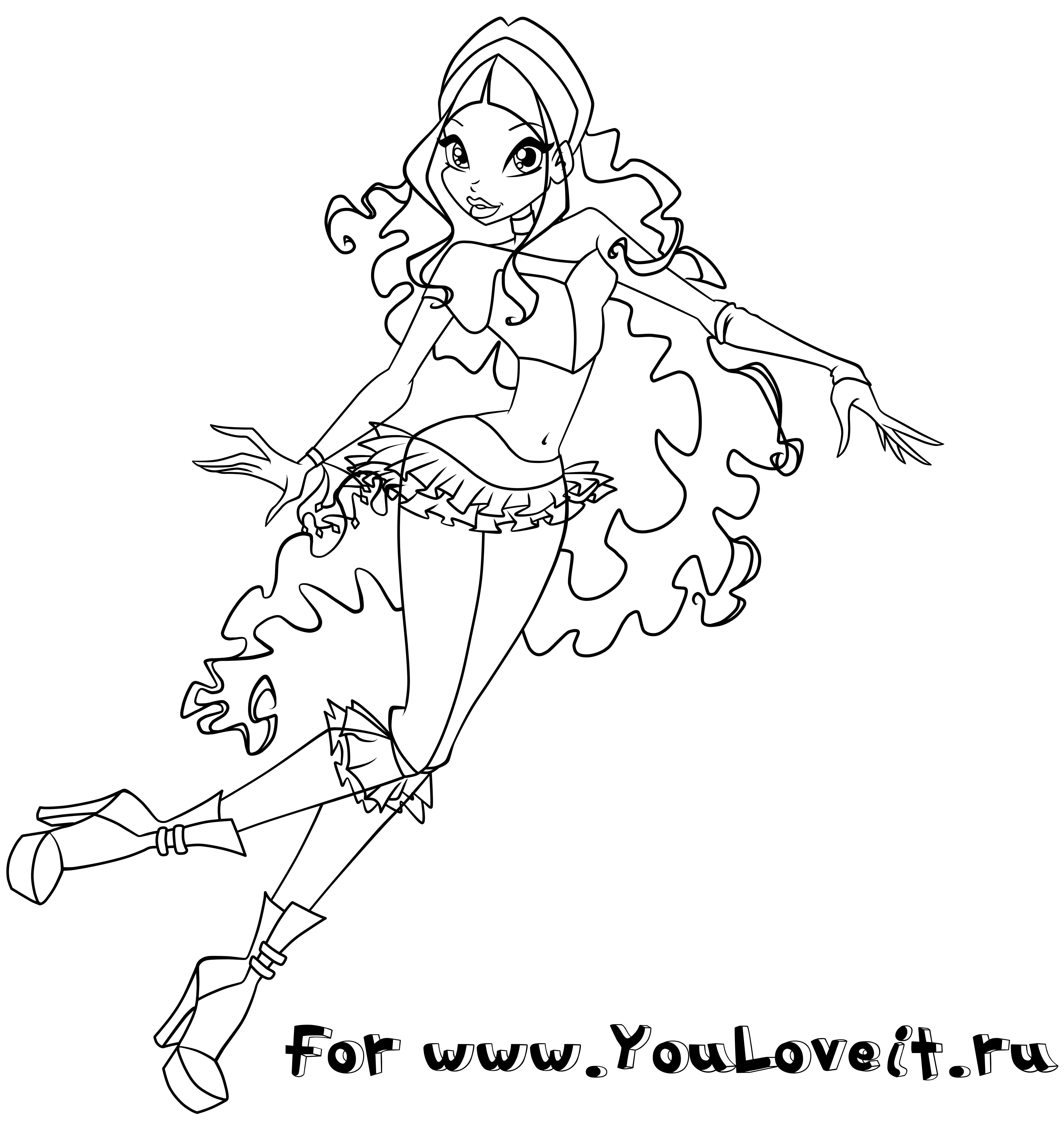 Раскраски винкс для лейлы