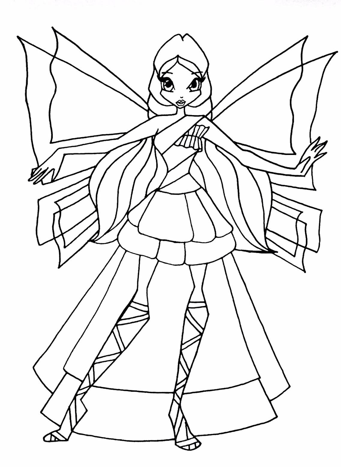 Раскраска для девочек винкс сиреникс - 6