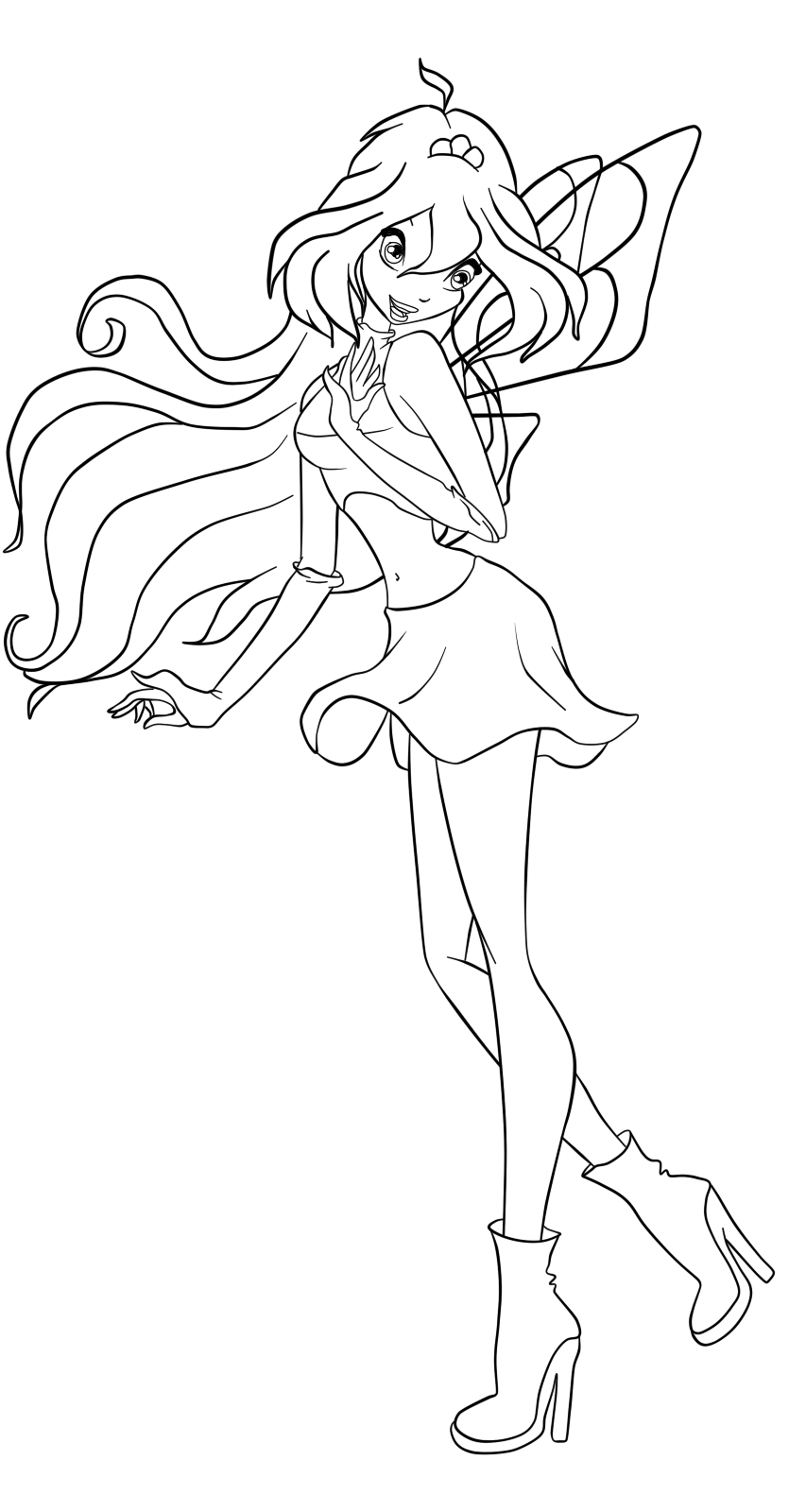 Free Coloring Pages Of Winx Carmix Winx Club Coloring Pages Bloom