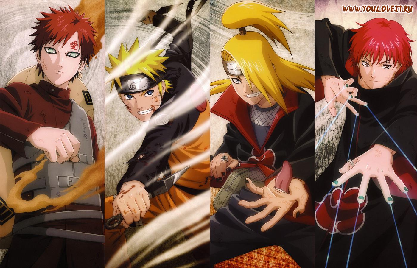 Сакура саске и наруто аниме картинки
