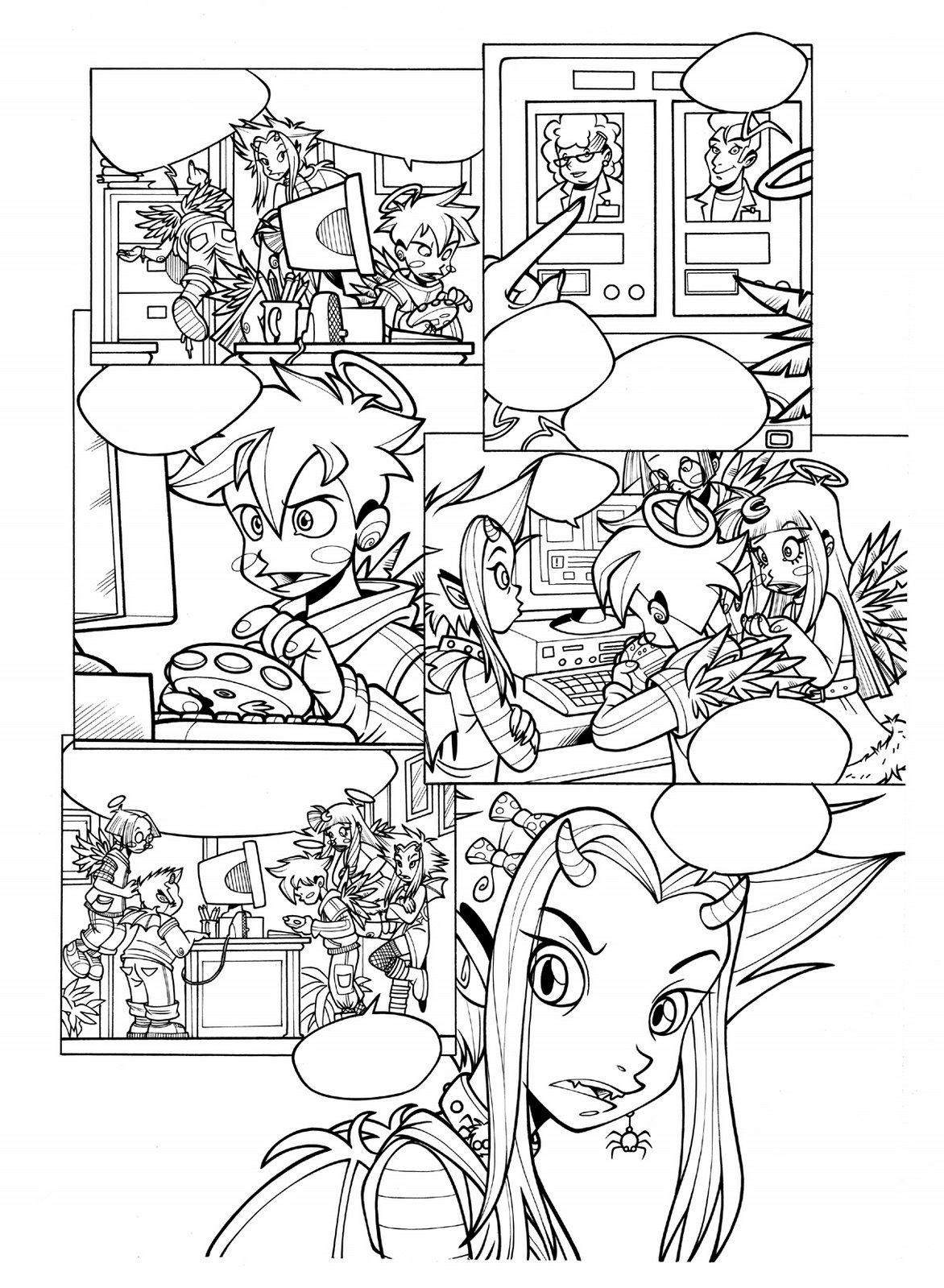 Рисовать комикс персонажей