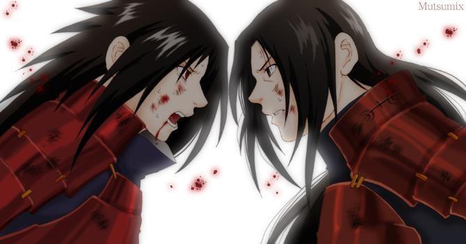 Мадара против 1 Хокаге - Картинки с персонажами Наруто - YouLoveIt.