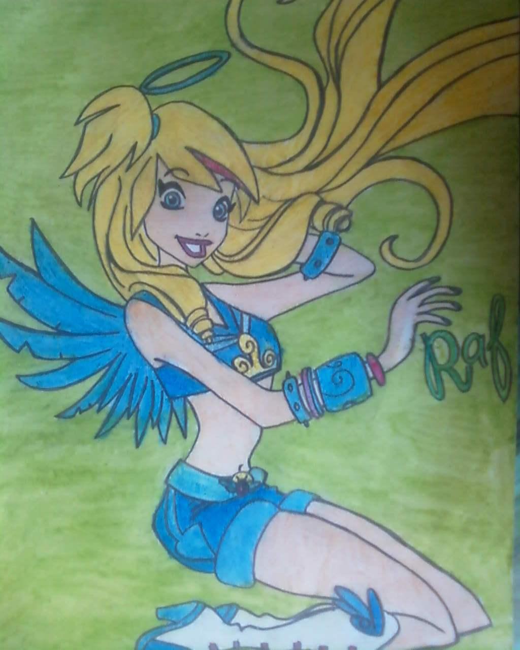 дочка дает как нарисовать из мультика друзья ангелов малышки любят