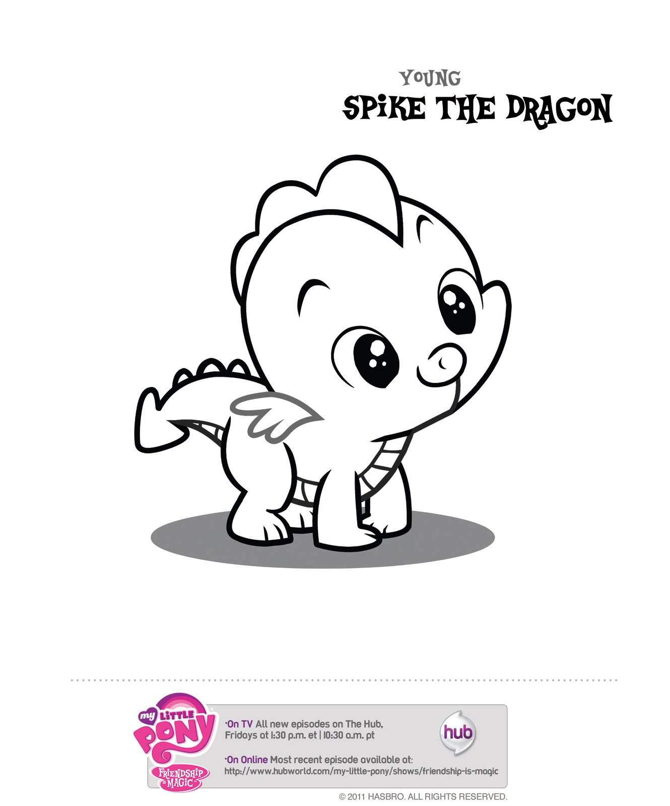 My Little Pony Coloring Pages Spike The Dog