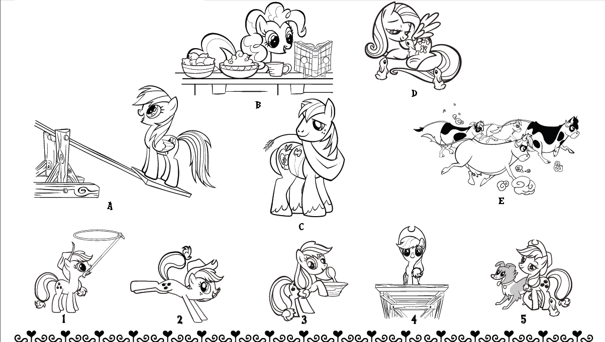 развивающие игры для детей раскраски пони раскраска онлайн
