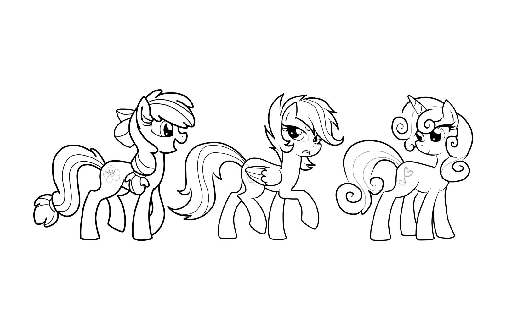 Раскраска дружба пони