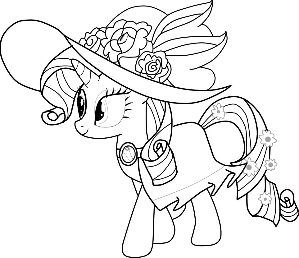 Маленькая пони раскраски онлайн