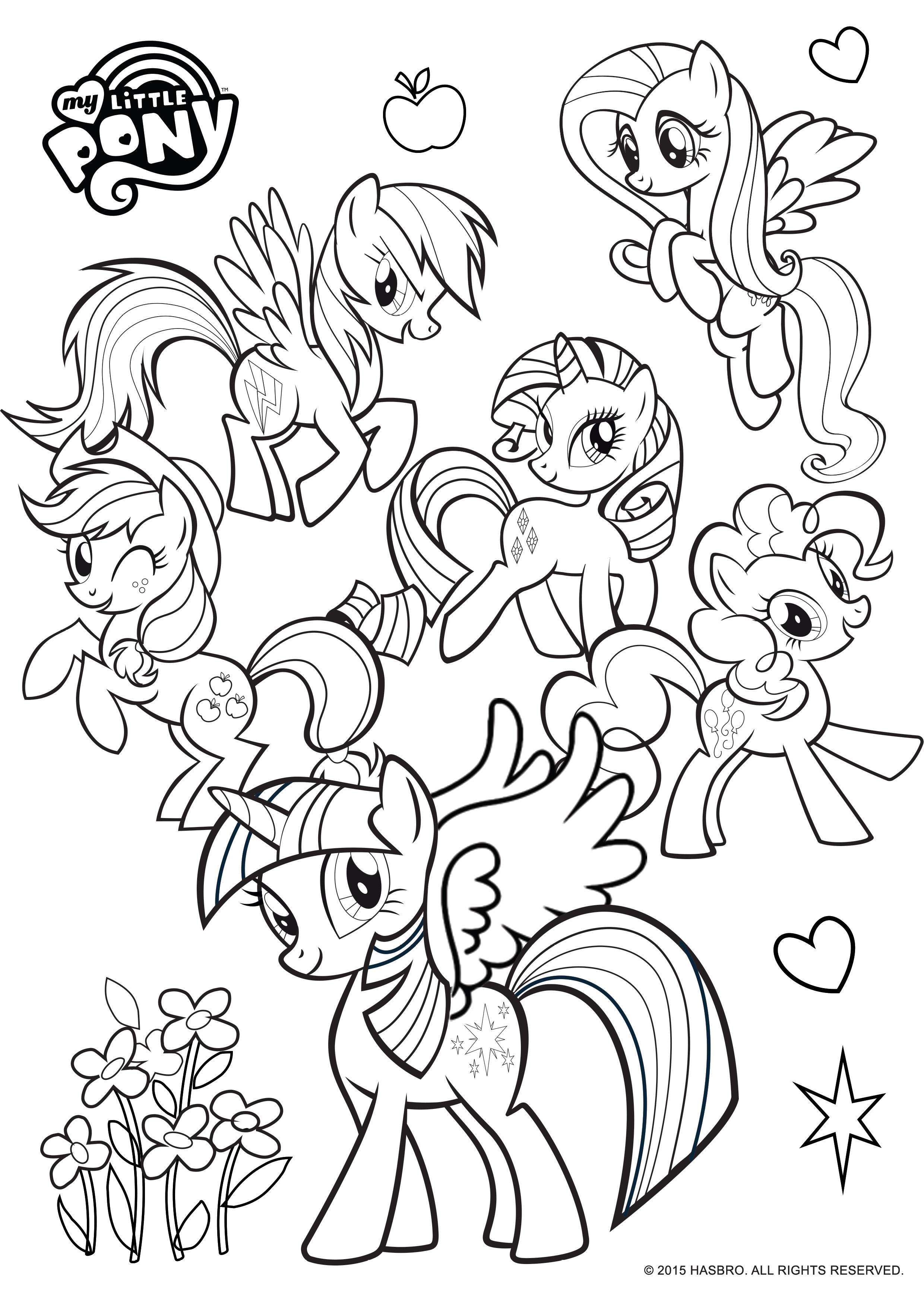 Раскраски пони дружба - 8
