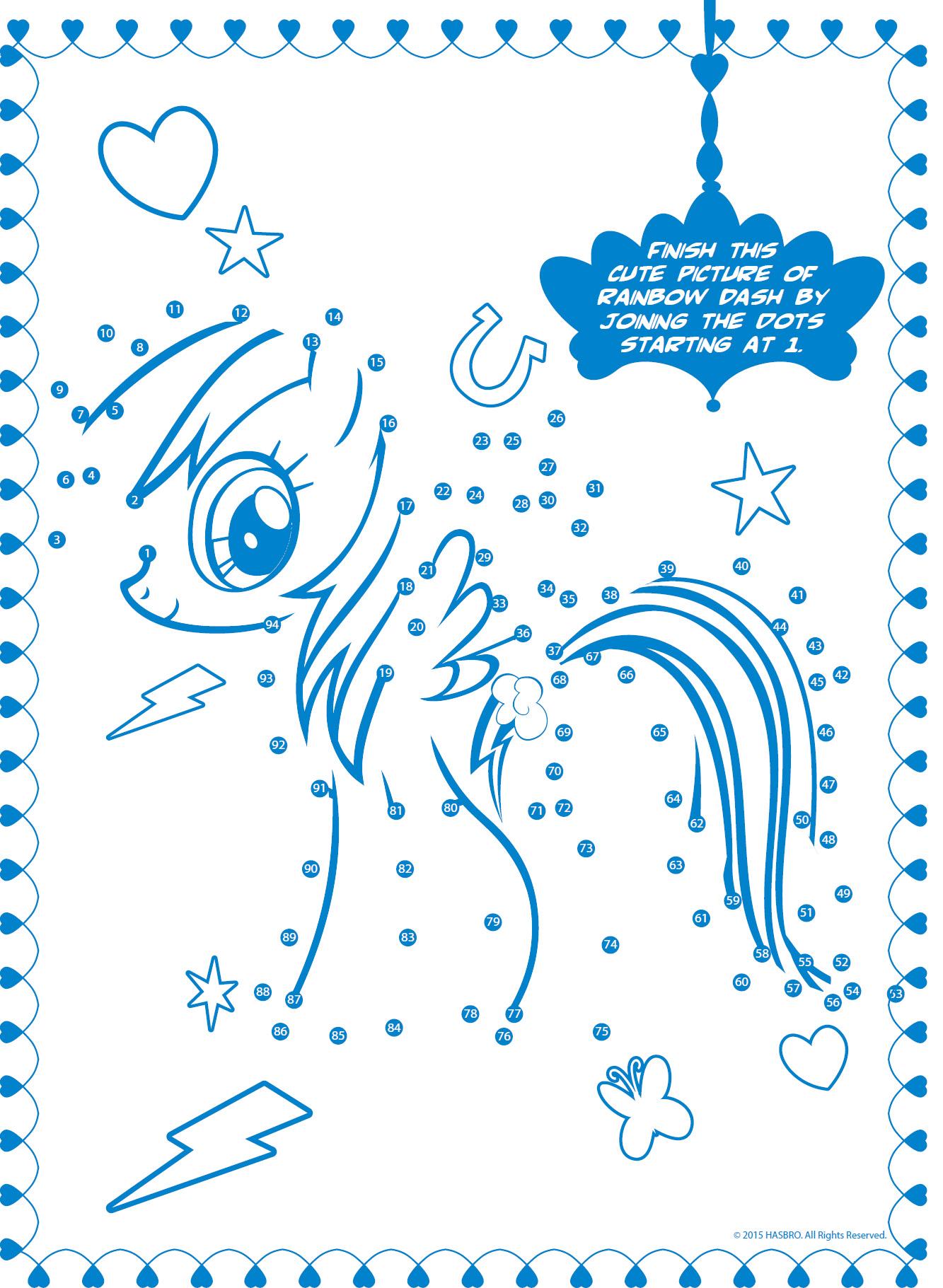 Раскраска - задание с пони Радугой Дэш - Раскраски пони ...