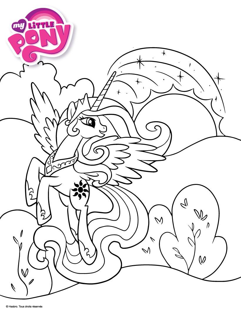 Раскраска пони принцессы Селестии - Раскраски пони Дружба ...