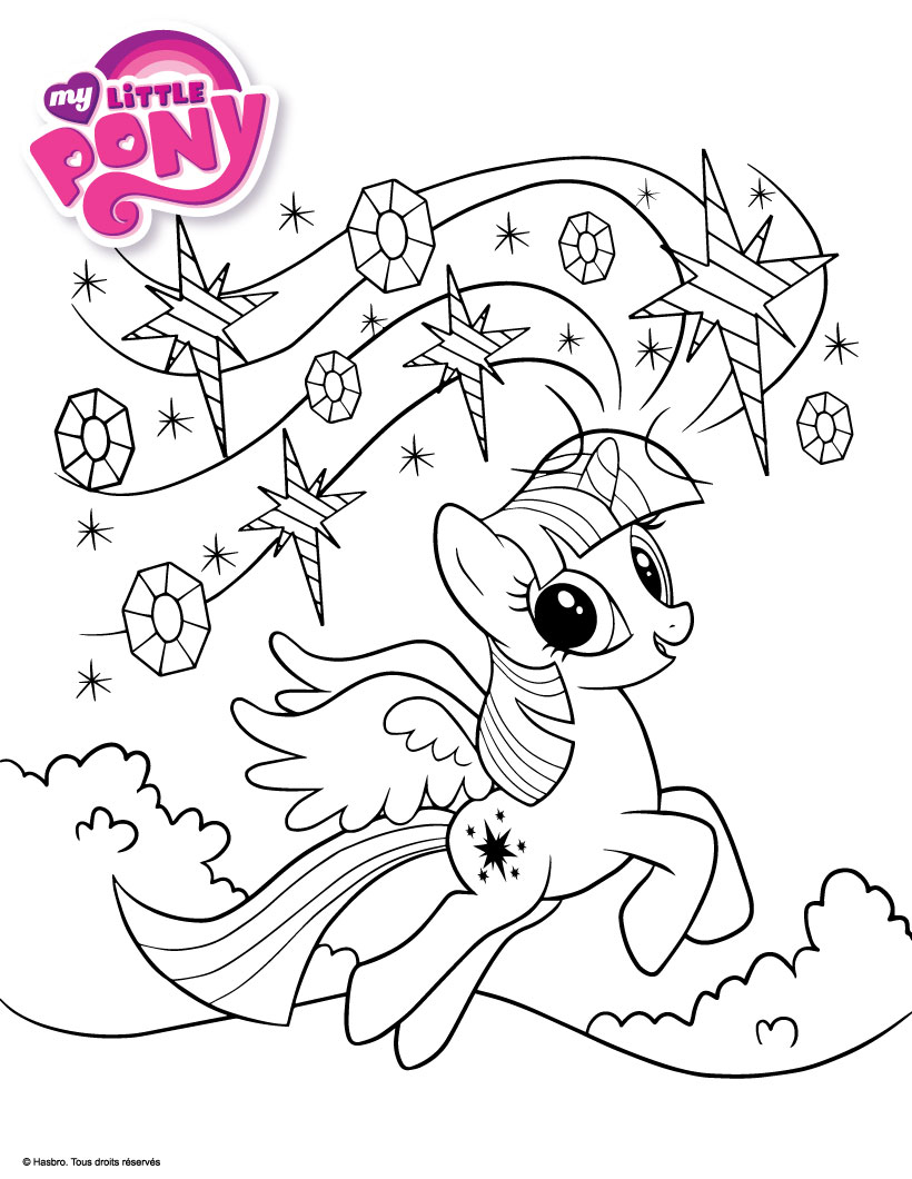 Пони искорка принцесса раскраска