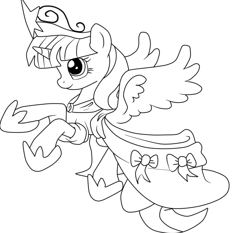 раскраска твайлайт принцесса аликорн раскраски пони дружба