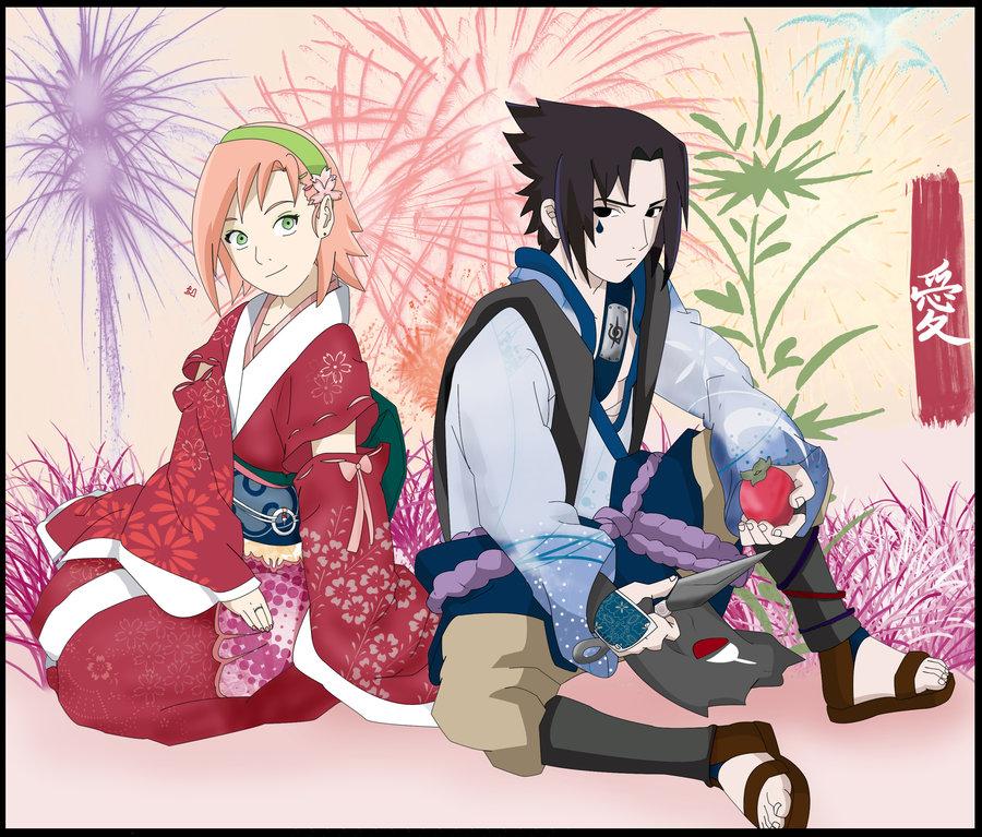 картинки саске и сакуры.