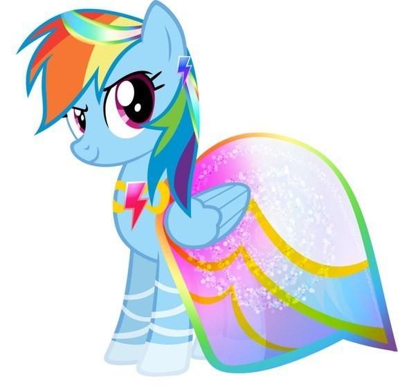Радуга в платье пони