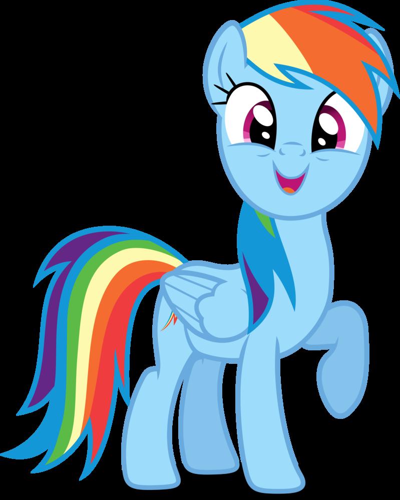 Для пони радуги
