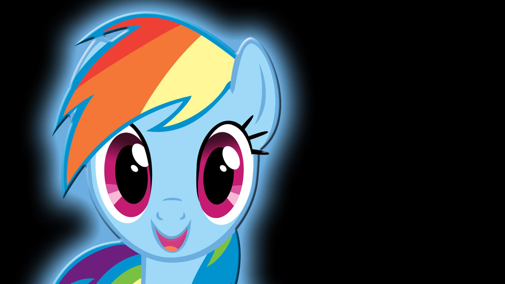 My Little Pony, Рэйнбоу Дэш - оригинальные обои рабочего стола.