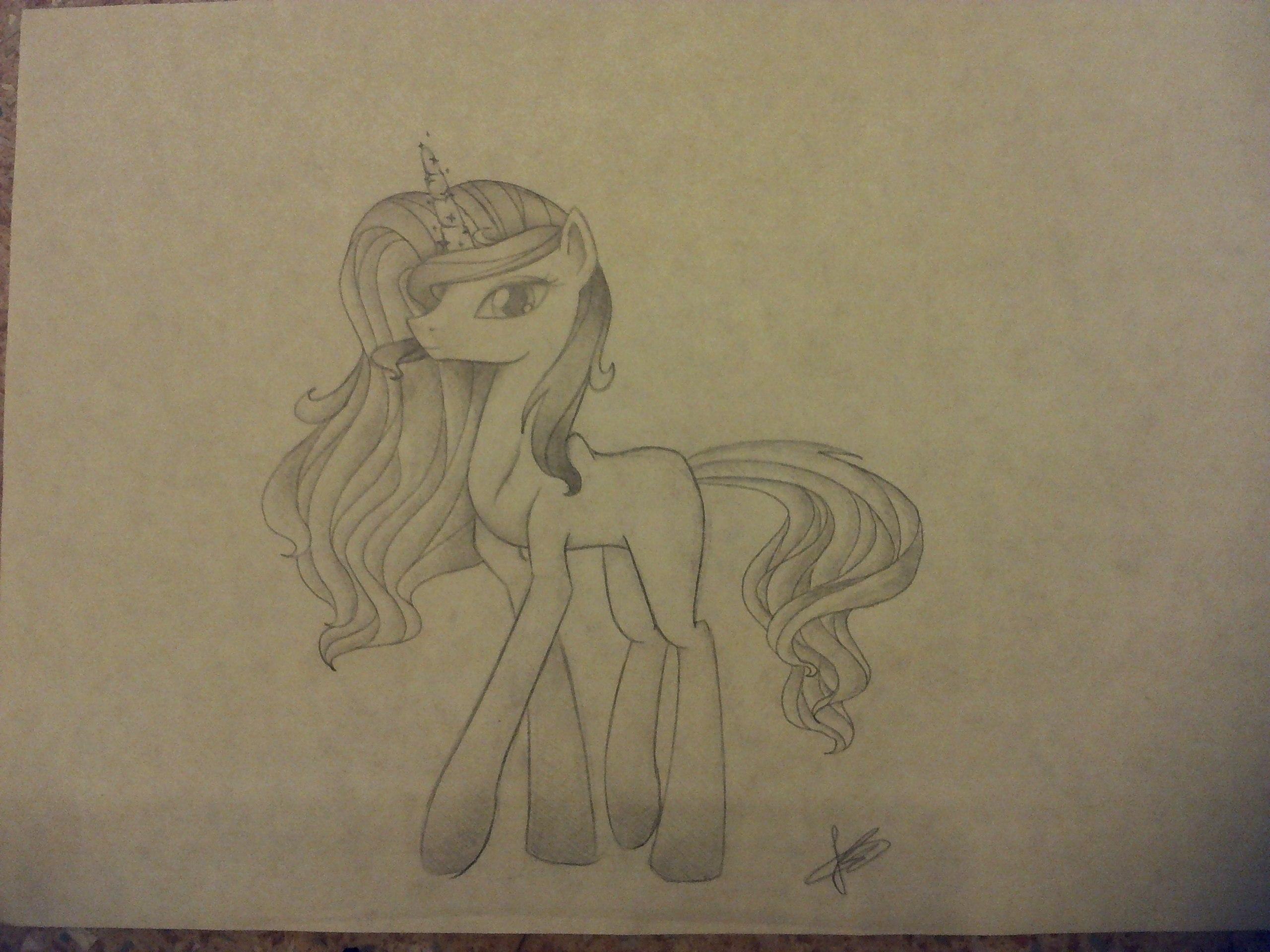 Рисунок пони карандашом - fd6f5