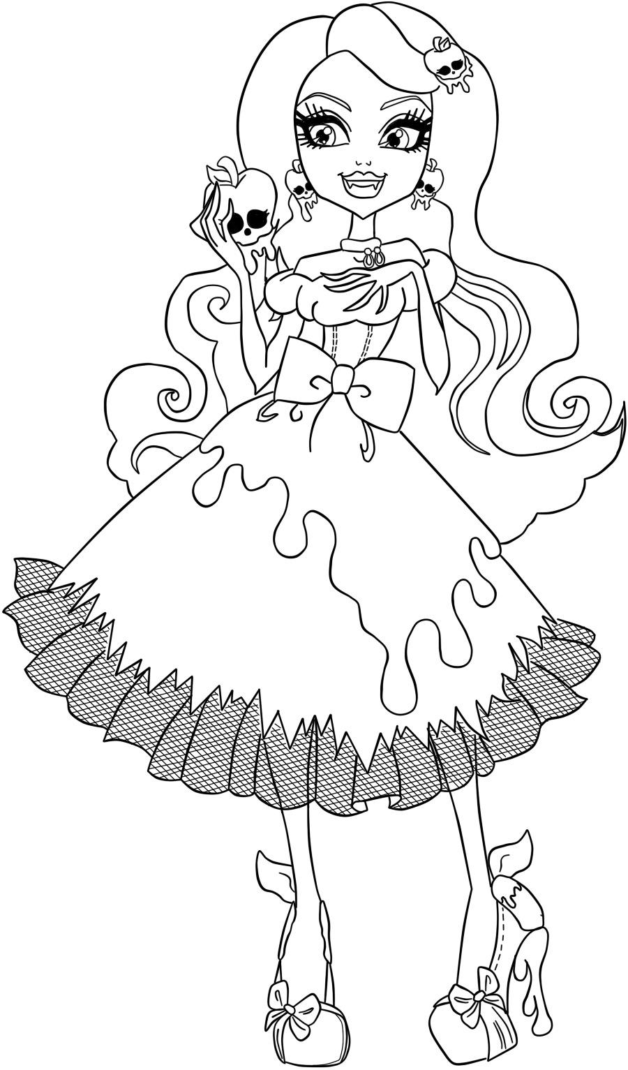 Free Coloring Pages Of Ever After High Kitty