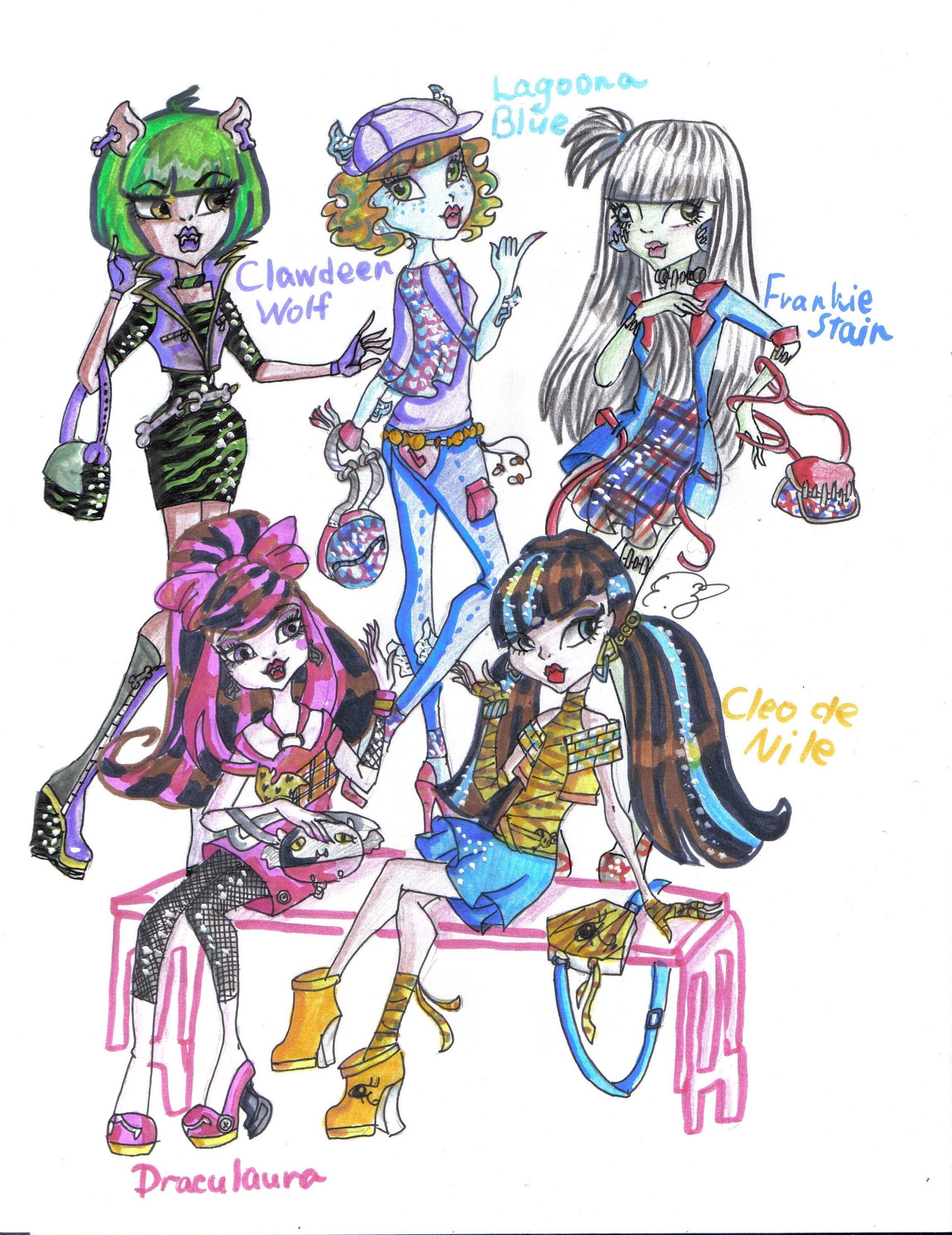 Фанарт рисунки Школа Монстров (Monster High) .