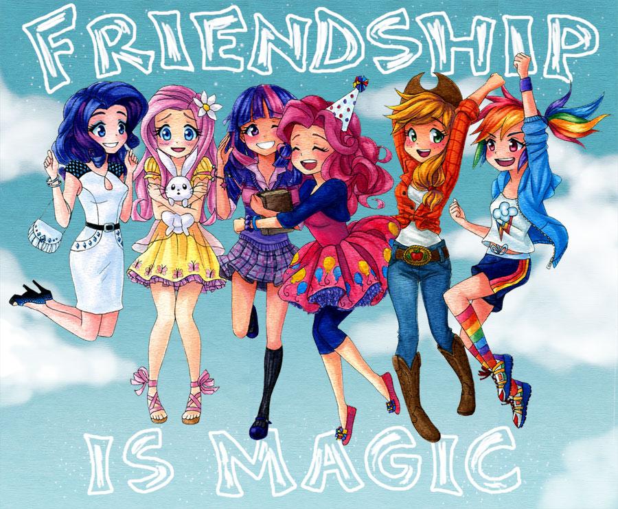 Дружба - это Чудо - Гуманизированные пони - YouLoveIt.ru