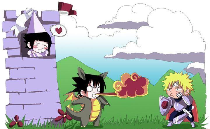 картинки аниме саске и хината: