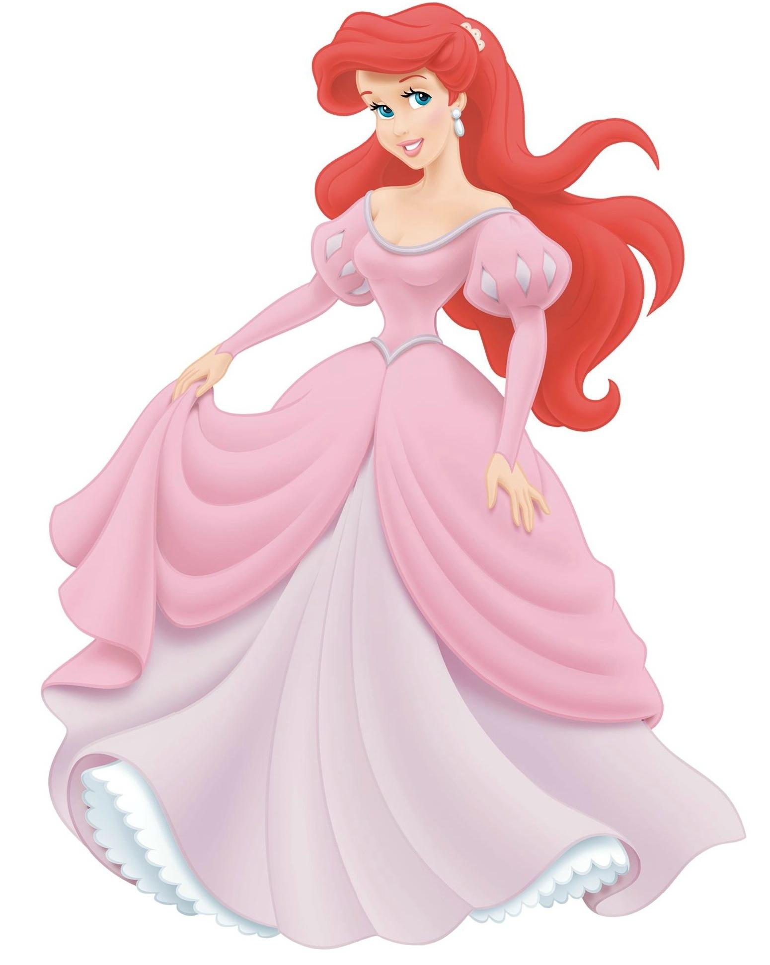 Русалочка ариэль в розовом платье