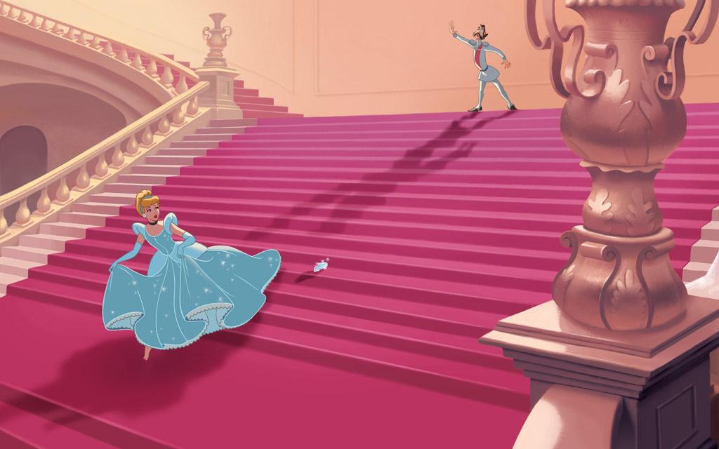 Золушка убегает и теряет туфельку - Золушка - YouLoveIt.ru  Cinderella