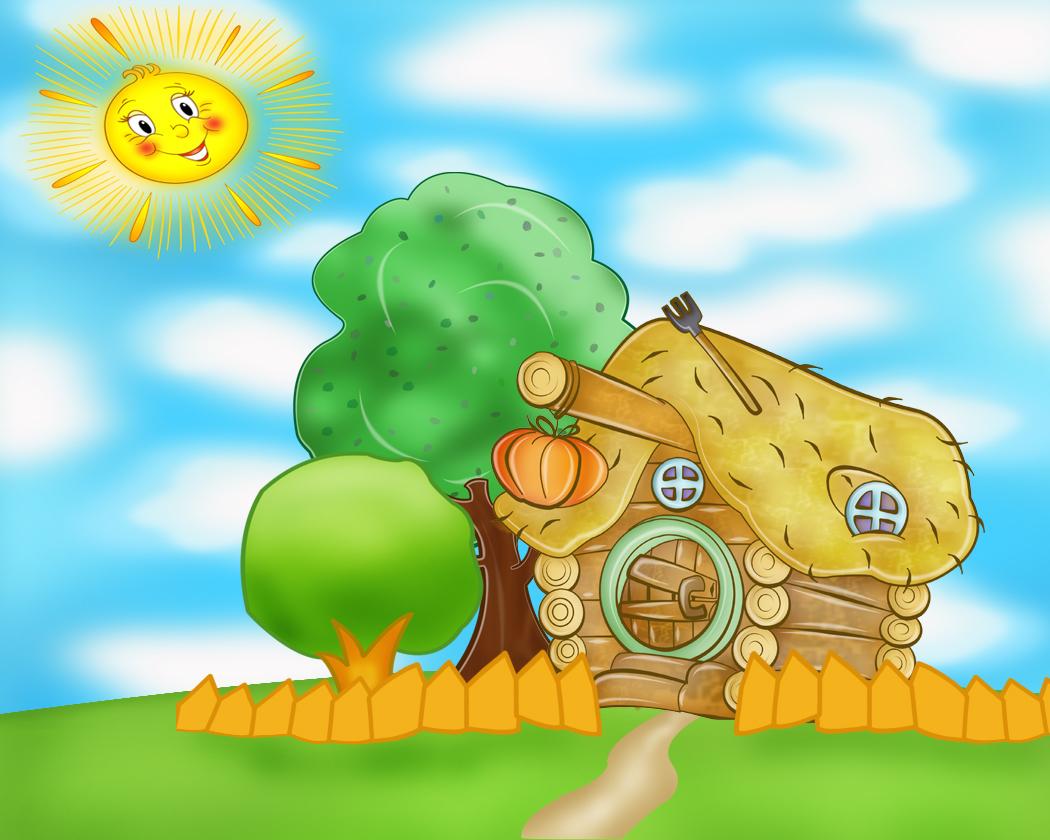 Смешарики домик рисунок любовь полищук до и после
