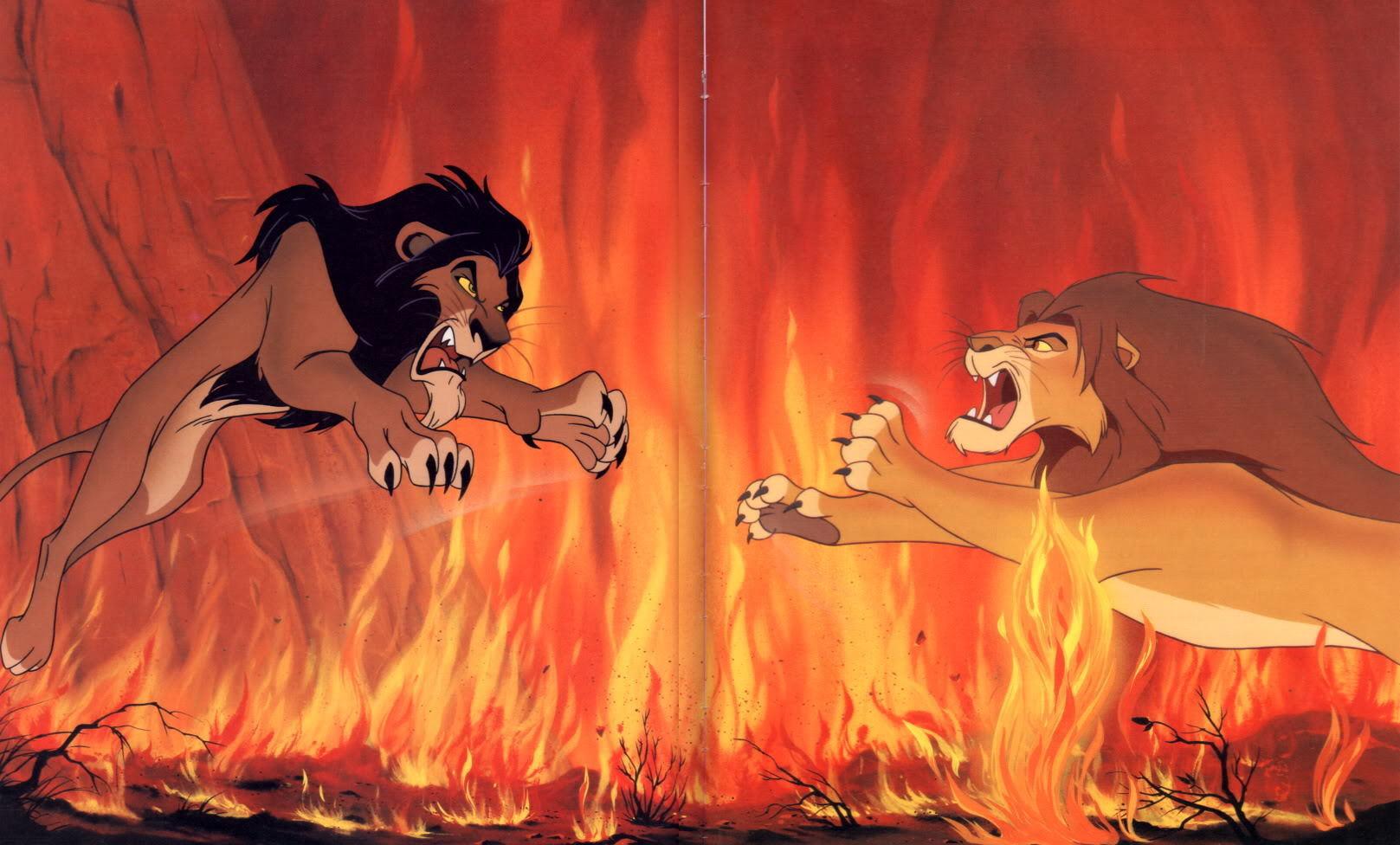 Король лев симба против шрама