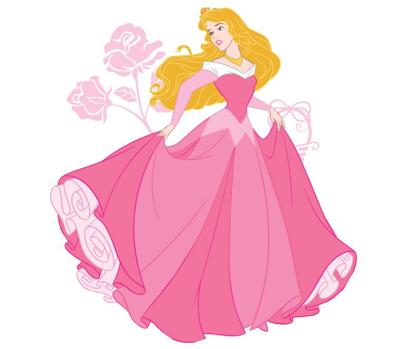 Мультик принцесса в розовом платье