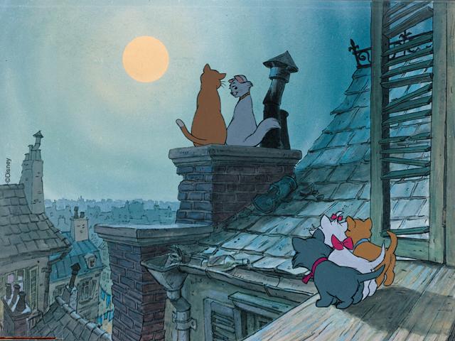 Кот на крыше рисунки
