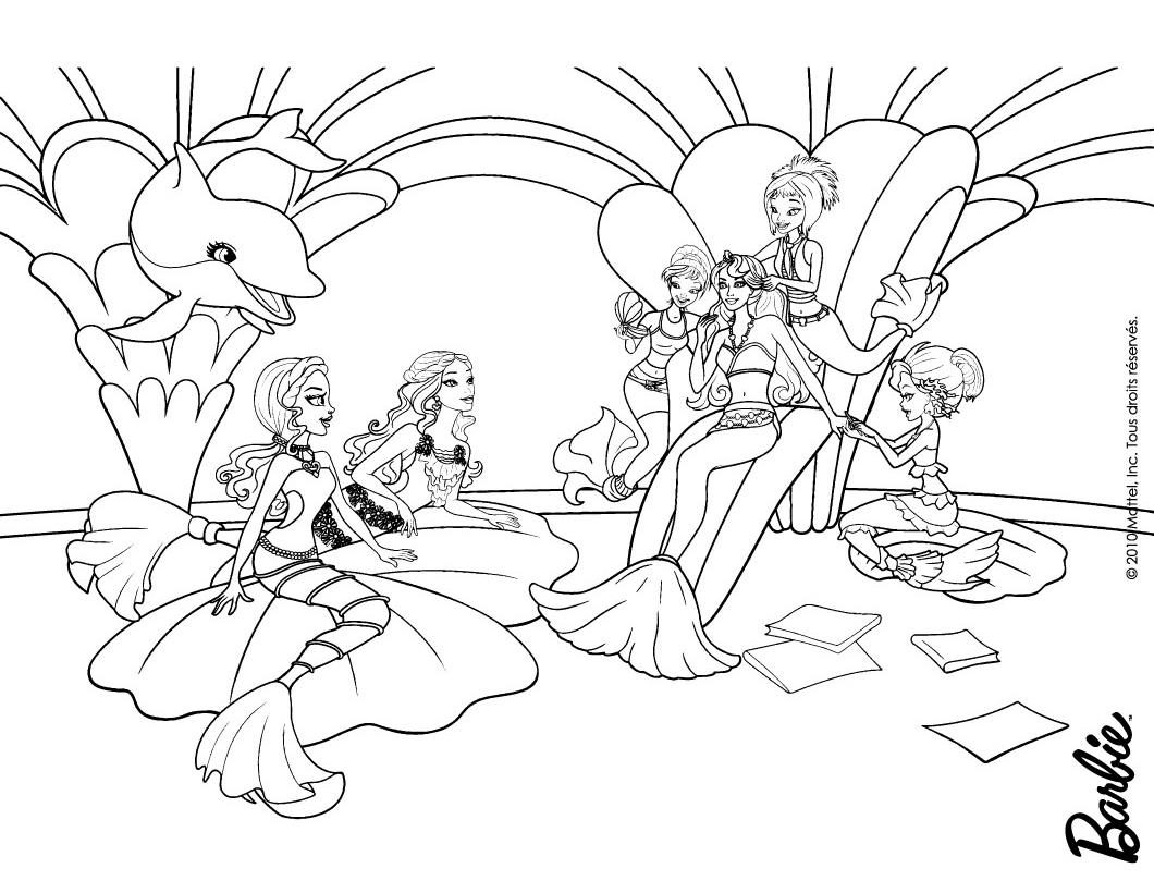 Раскраска Барби Приключения Русалочки русалки  Раскраски