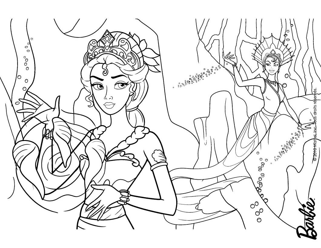 mermaid barbie coloring pages nyepamcoloringpages - Barbie Mermaid Tale Coloring Pages