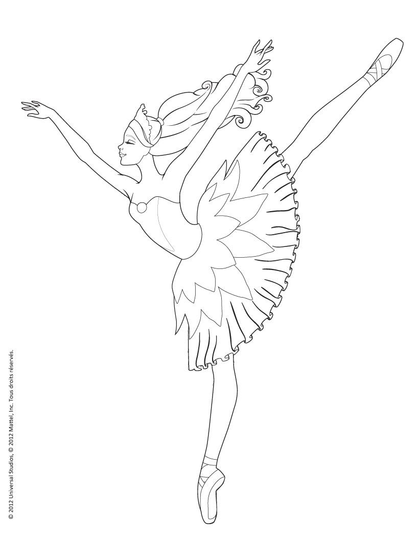 раскраска барби балерина в розовых пуантах раскраски барби