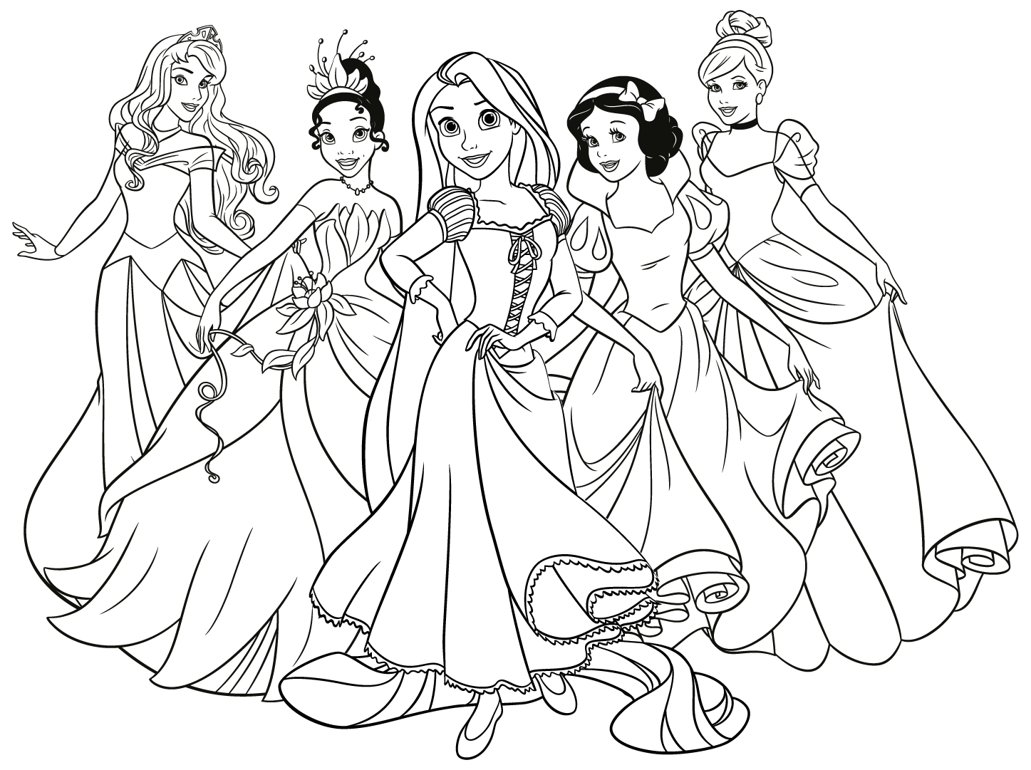 Раскраски принцессы диснея девочки