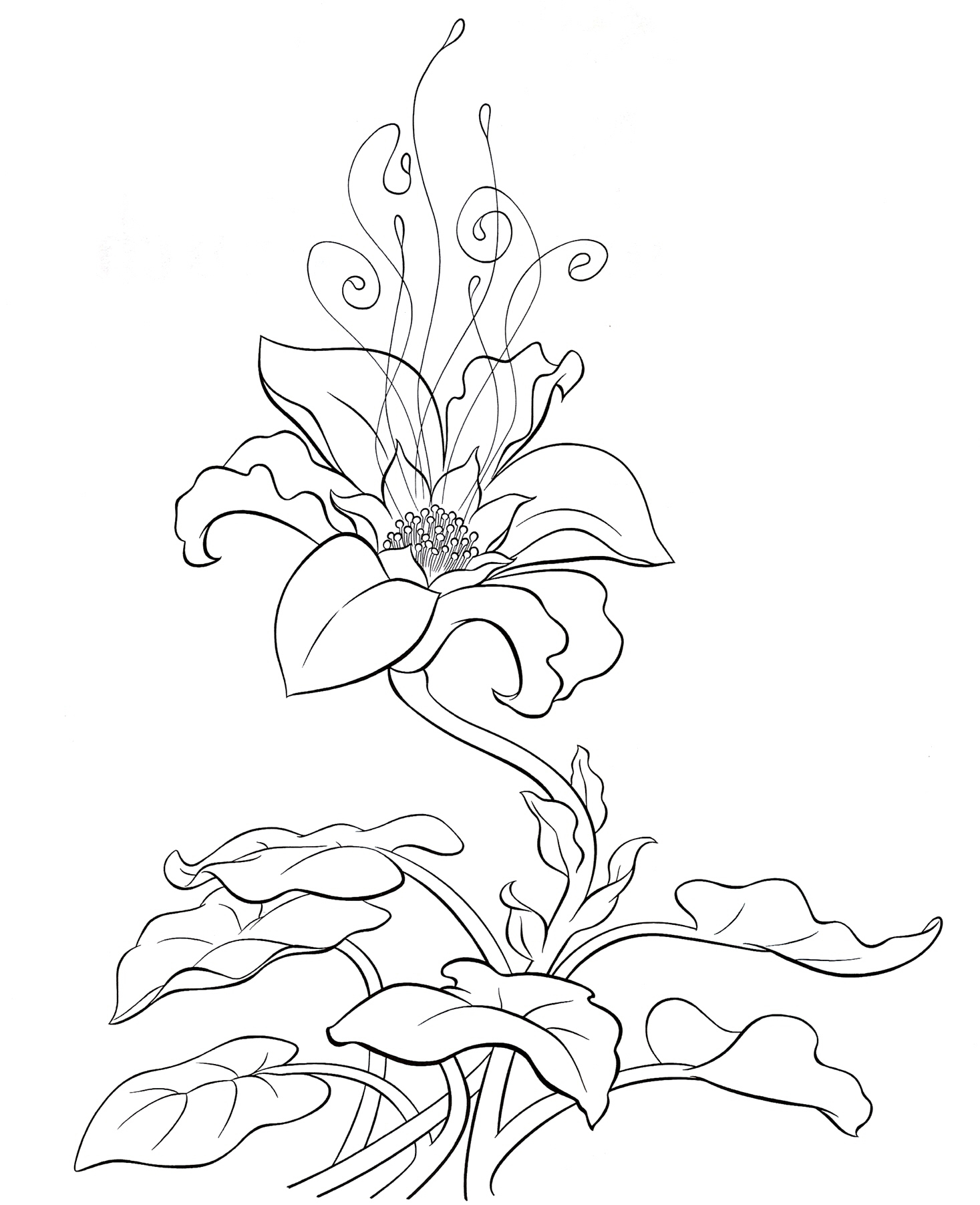 Волшебный цветок рисуем
