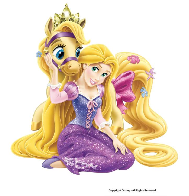 Disney Princess Gallery Slideshow: Питомцы Дисней Принцесс, Рапунцель и ее пони Блонди