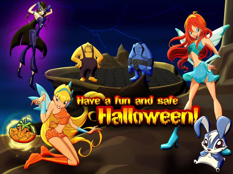 Винкс хэллоуин картинки (Winx halloween pictures)!