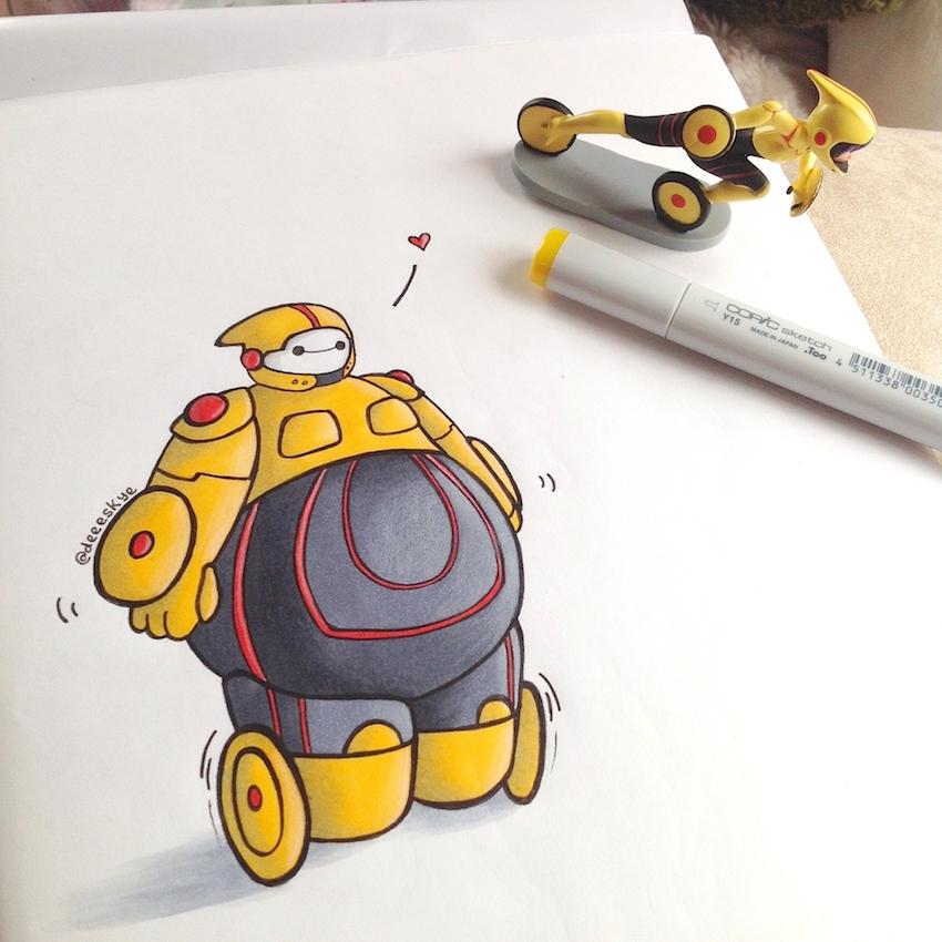 Как рисовать героев из мультфильмов