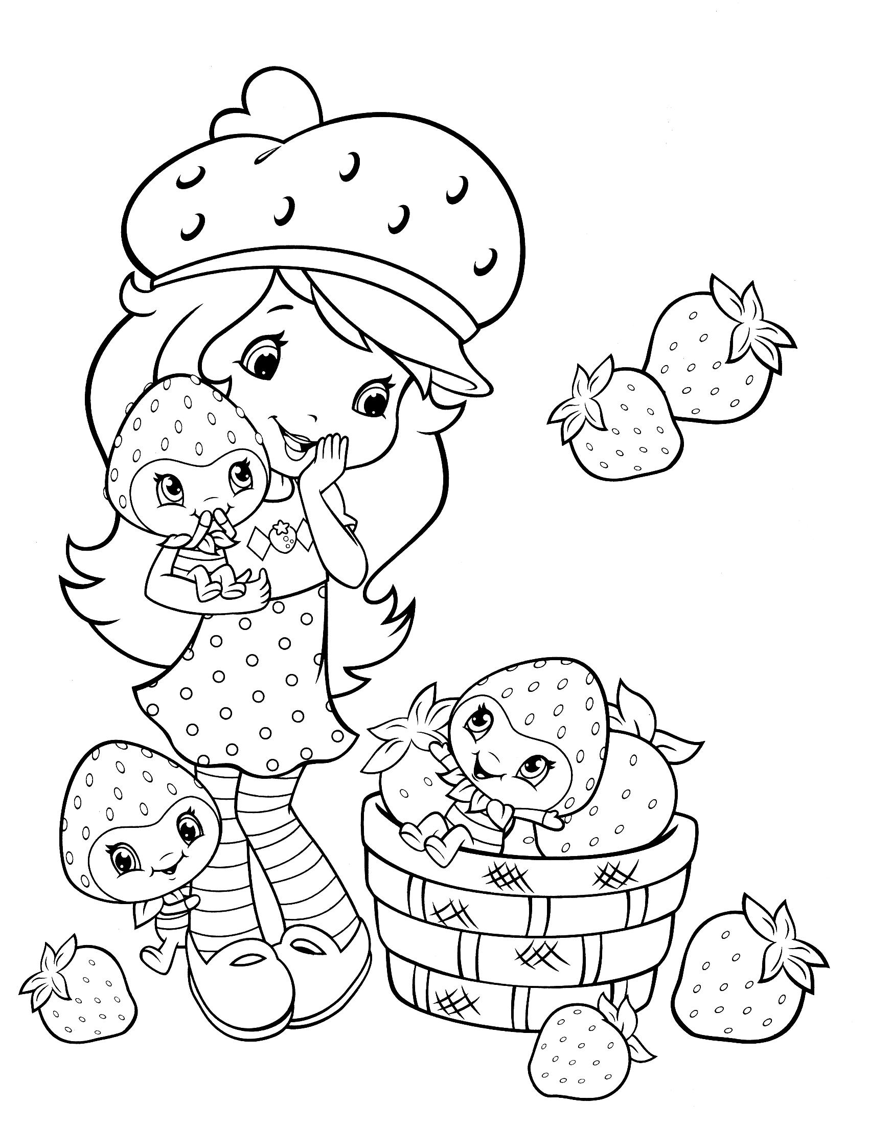 Раскраска для маленьких девочек распечатать - 6