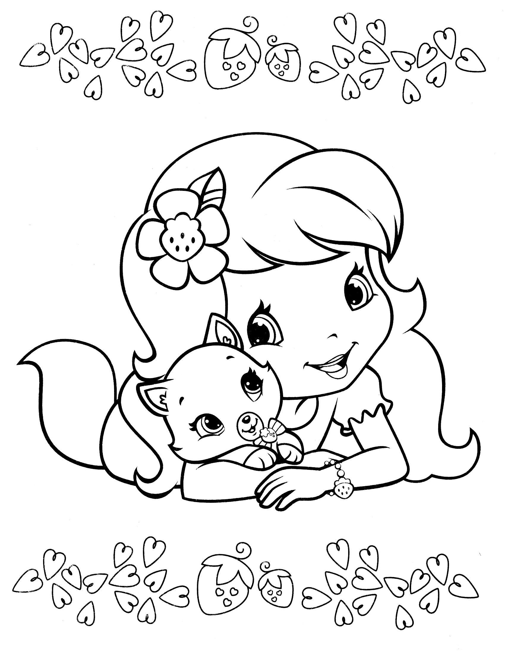 Раскраски для девочек земляничка распечатать - 6