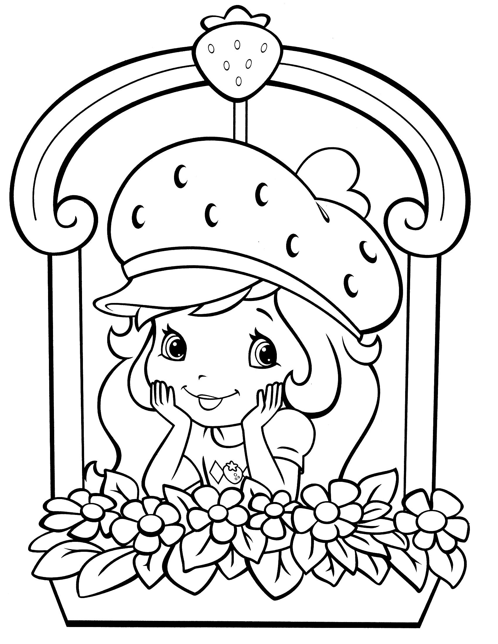 Раскраска девочка земляничка - 7