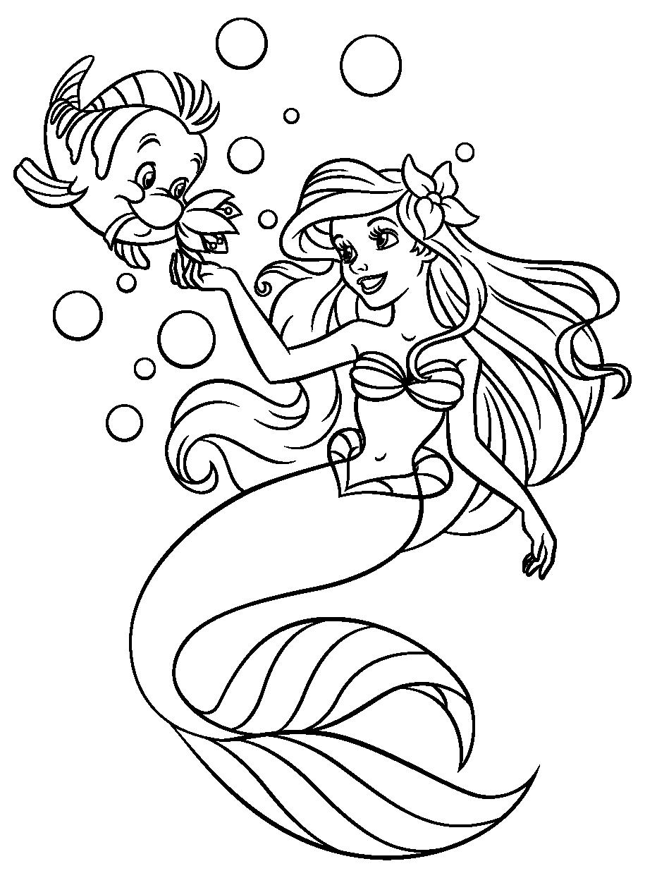 Раскраски русалочка - 6
