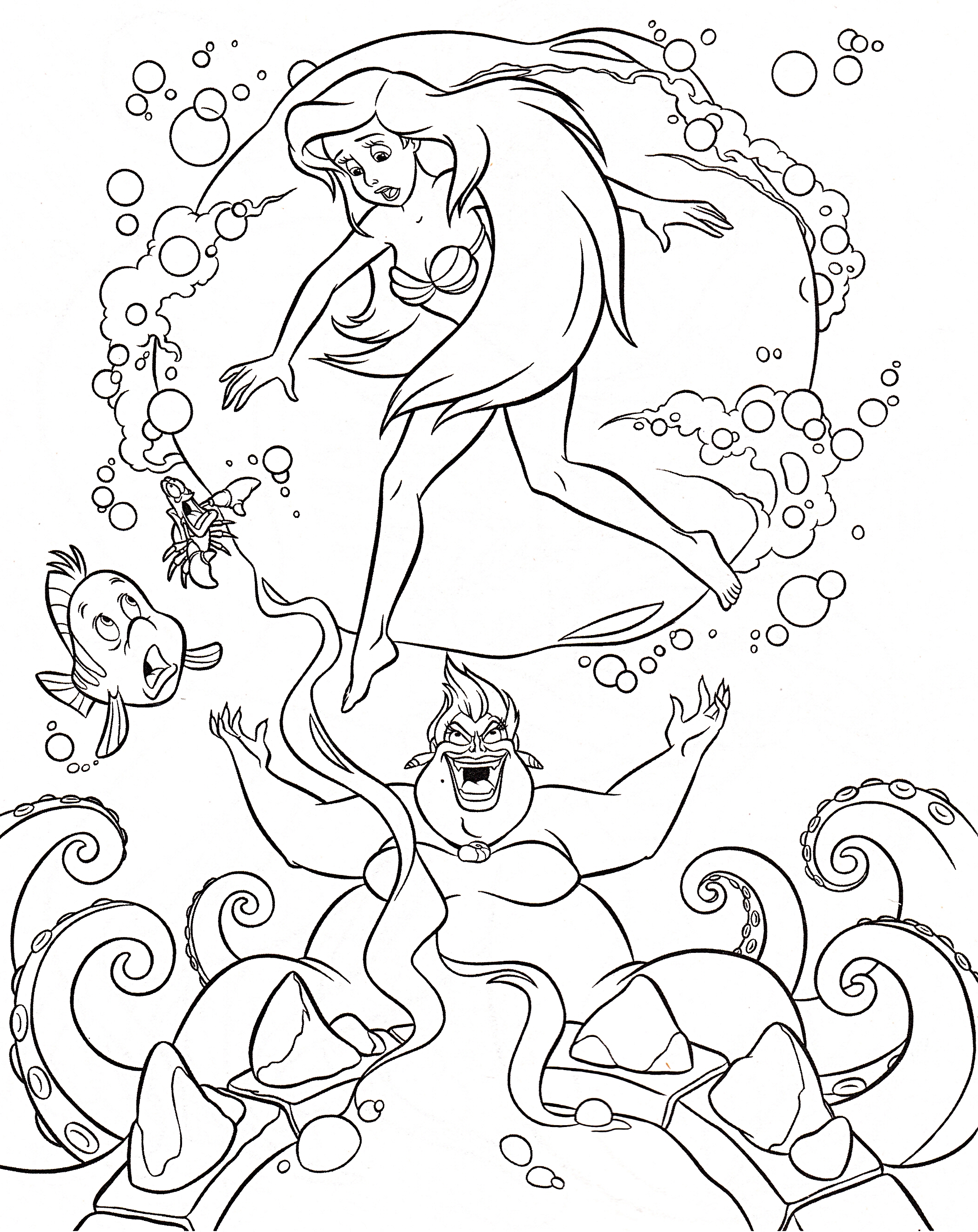 cauldron coloring page -