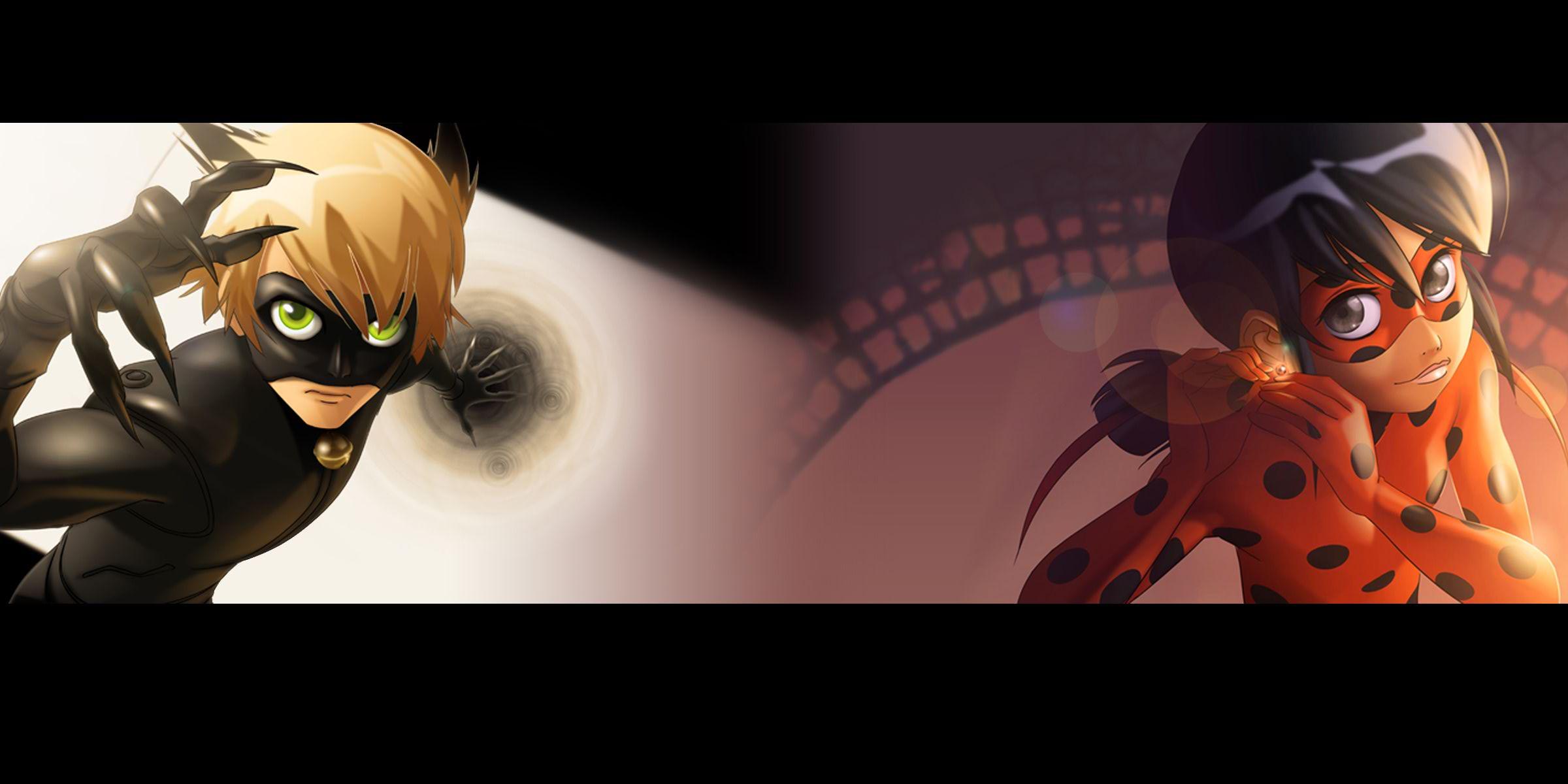 картинки леди баг и кот нуар аниме