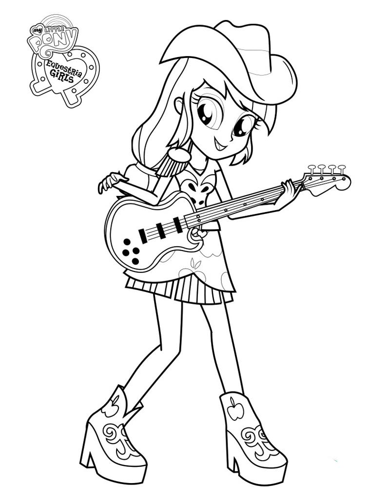 Раскраска девочки из эквестрии игры дружбы - 10