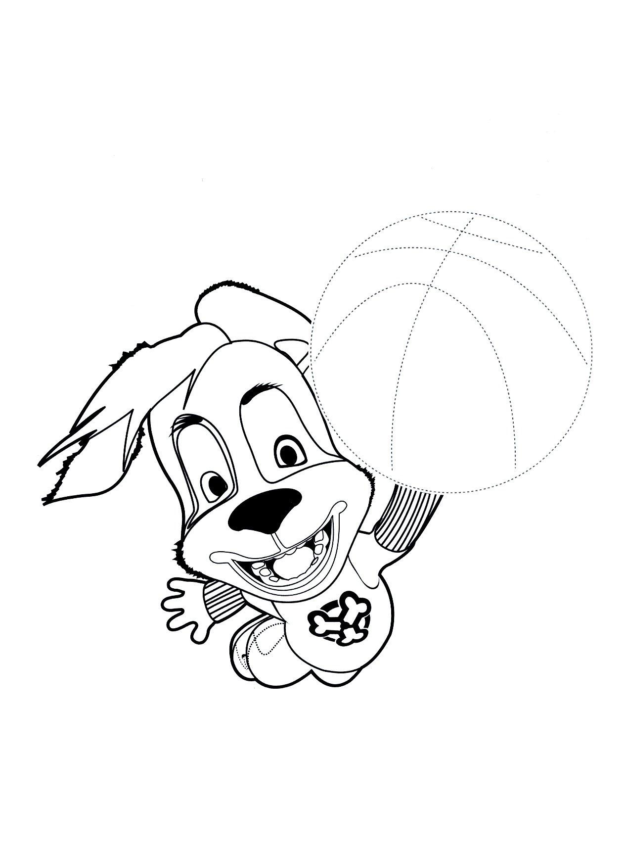 раскраски барбоскины дружок с мячом раскраски барбоскины