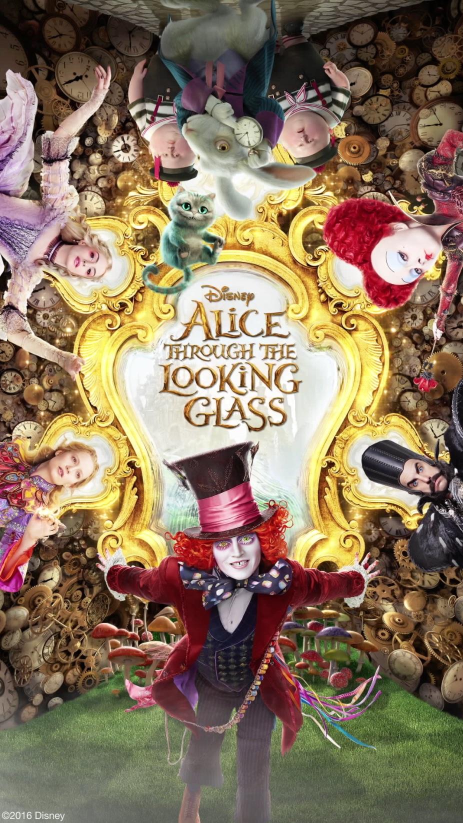 Фильм Алиса в Зазеркалье 2016, новый постер с главными
